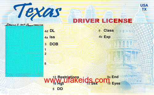 tx fake id template