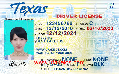 Florida fake id template for Texas temporary drivers license template