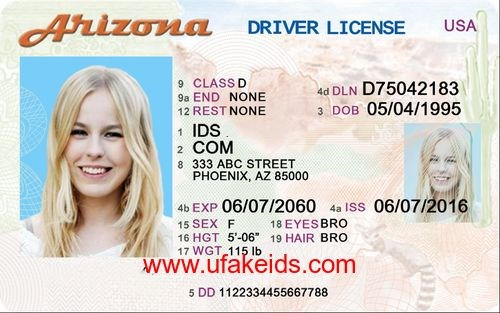anizona fake id