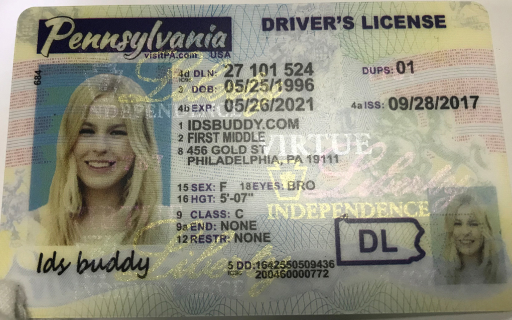 PENNSYLVANIA NEW Fake ID