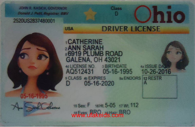 OHIO fake id