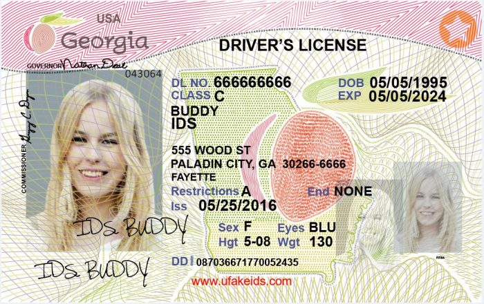 Georgia Fake id