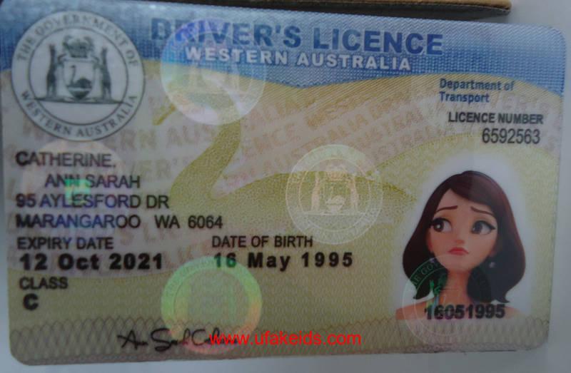 Western Australia Driver License