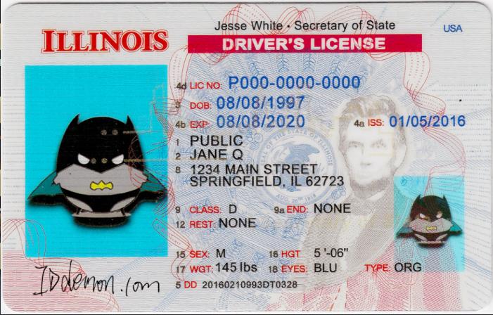 New Illinois Fake id