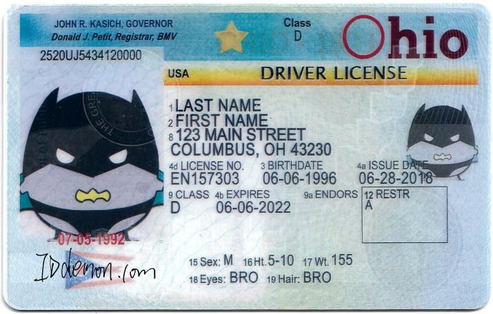New ohio Fake id